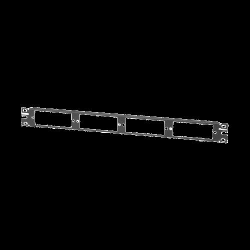 PANDUIT Panel de distribución plano de fibra. Sostiene hasta cuatro paneles para adaptador FAP o FMP. - CFAPPBL1