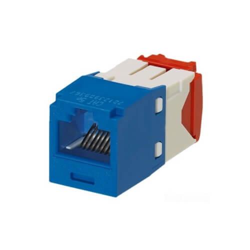 PANDUIT Categoría 5e, 8 posiciones, 8 hilos, azul, módulo universal. - CJ5E88TBU