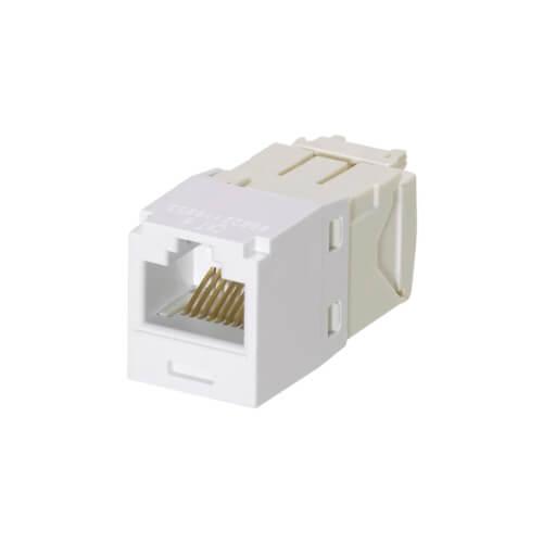 PANDUIT Conector Mini-Com™  RJ45, Categoría 6, UTP, blanco. - CJ688TGWH