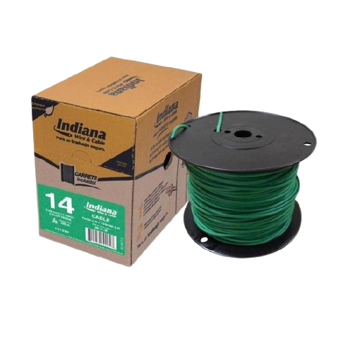 CABLE THW-LS CAL. 14 VERDE 100 MTS. MCA. INDIANA