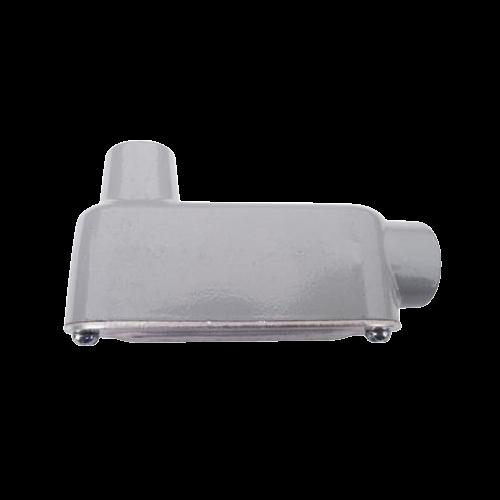 """Condulet Serie 3 de Aluminio Libre de Cobre forma LB-23 de 3/4"""", Tapa de Aluminio"""
