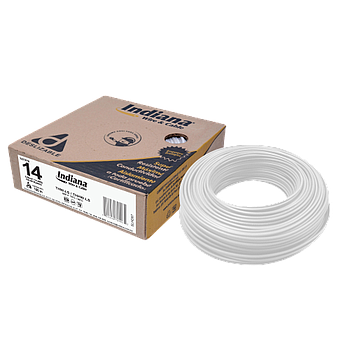 CABLE THW-LS CAL. 14 BLANCO 100 MTS. MCA. INDIANA