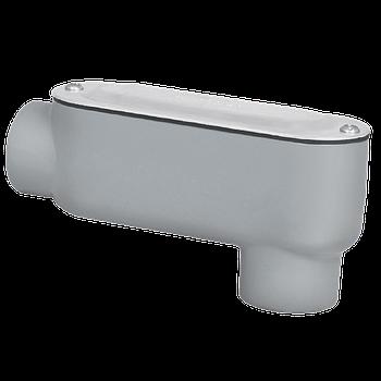"""Condulet Serie 3 de Aluminio Libre de Cobre forma LB-13 de 1/2"""", Tapa de Aluminio"""
